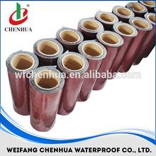 self adhesive asphalt/ bitumen waterproofing sealing tape, aluminium flashing roofing, construction building material membrane