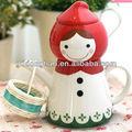 china suplier atacado direto da fábrica personalizado bazar de porcelana pintada à mão halloween pote de chá