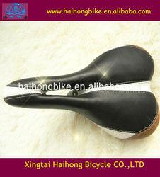 2014 very comfortable colour leather MTB bike saddle/ bicycles saddle