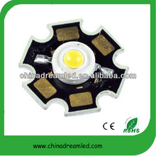 China shenzhen manufacturing original bridgelux chip with star pcb 140lm cool white high power led 1w