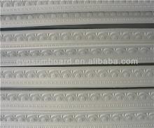 decorative plaster cornice as gypsum construction material /Pure white high strength ceiling color gypsum cornice
