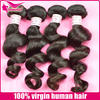 Factory price raw unprocessed 6A 100% brazilian hair weave