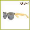 Spring hinged bamboo wayfarer sunglasses UV400 protecting