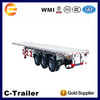 40ft flatbed semi trailer and the best trailer with FUWA axle