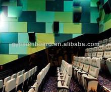 Tecido decorativa painéis de parede teto para ceinema e ktv / placa de fibra de vidro / materiais de construção