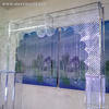 Metal crystal wedding stage backdrop decoration for crystal marriage decoration(WEDS-001)