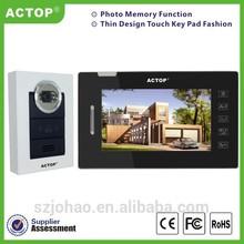2014 ACTOP hot sale home security video door phone intercom system