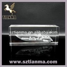 Cube 3d crystal souvenir paperweight china manufacturer