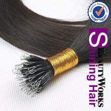2012 Cheap virgin Malaysian/Indian/Peruvian/Brazilian Nano Hair Hot Selling