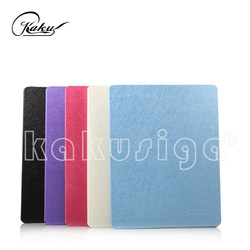 H&H ultra-thin silk pattern flip leather cover case for ipad mini 2 with smart function