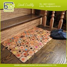 Fashion Design 40x60cm Flocking Rubber Door Mat