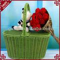 artesanato de vime cesta de frutas artificiais