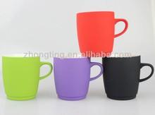 factory direct supply new product ceramic rubber coating mug
