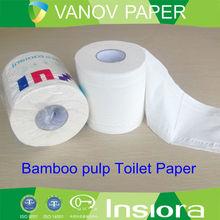 white virgin bamboo toilet paper roll