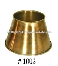 Round Antique Brass Lamp Shade