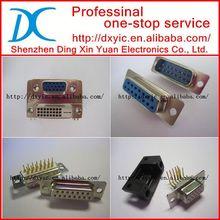 DA-H15P-F179 D-sub 15 pin connector CONN DB15 PLUG WIRE WRAP
