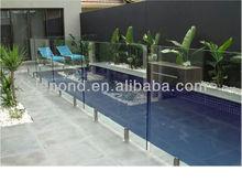 glass swimming pool/glass pool fence