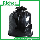 black plastic garbage bag/trash bag HDPE can liner