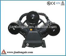 10hp 8bar jl3090 industrial heavy duty piston air compressor bare pump for sale