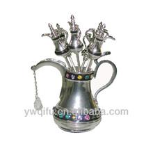 Magic aladdin oil lamps metal jeweled trinket box(QF2984)