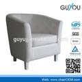 Y-5999 diseño moderno sofá silla con cuero de la pu mobiliariodesala