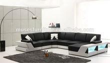 2014 NEW sofa design sectional sofa with LED lighting S503#