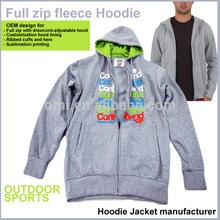 Custom Hoodies manufacturer terry Zipper Sports jacket Fleece Hoodies