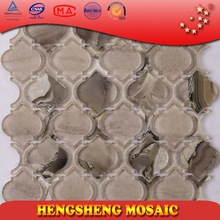 kitchen backboard glass tile Water Jet Craft Wall Paper North America Popular Resin Glass Moaic Tiles