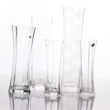 Decorative Long Vase, Huge Decorative Vases, Clear Glass Vase
