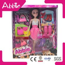 abbie pantalla de la ventana con muñecas de moda bolso zapatos tienda de muñecas de juego para los niños