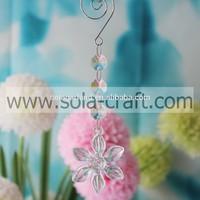 Decorative 17CM Clear Transparent Grade A Acrylic Pressed Flower Light Bead Prism Parts for Strands DIY50pcs