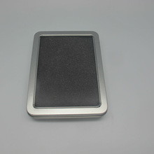 rectangular shape window tin box with hinge lid for watch