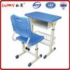 Plastic school desk with chair/school furniture