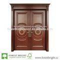 caliente doble indio de madera de teca de la puerta principal de diseño
