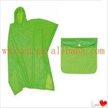 PV-1101 green waterproof pvc waterproof rain poncho
