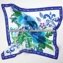 Fashion Design Purple 100% Polyester Silk Feel Scarf 2013
