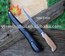 filé de peixe faca com bainha de couro