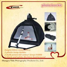 Wholesale Photographic Equipment speedlite softbox Camera Stand studio lighting kit with photo lamp holder