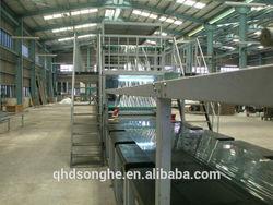 Fibreglass panel laminating sheet machine