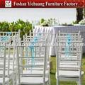 Yc-a79 aluminium weiß hochzeit chiavari stuhl zu Event-und party