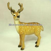 wooden cute Sika Deer,linden wood