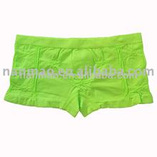 2014 fashion satin underwear solid color sexy women boxer brief