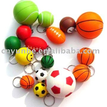 Customed Imprinted smily pu foam sponge squeeze reliever anti stress ball