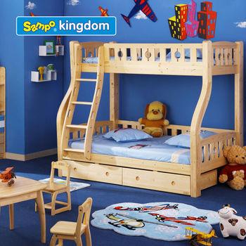 kids solid wood bunk bed/children wooden bunk bed