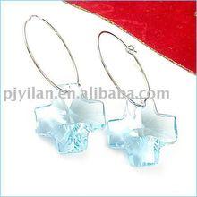 nice hanging crystal butterfly earrings