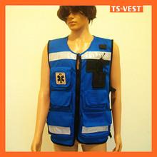 Blue Detachable Fishing Rescue Safety Reflective Vest