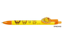 TPR340 Plastic ball pens with custom clip heat transfer logo SA8000 Sedex factory audit