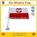 impreso el poste de plástico de color rojo y blanco del coche bandera de la ventana