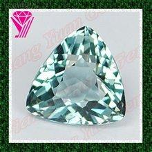 Hot Sale Glitter Aquamarine Zirconia Trillion Cut Stones
