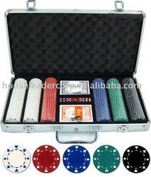300pc Aliminum case Poker Set